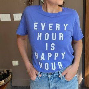NWT Wildfox Every Hour is Happy Hour Graphic Tee S